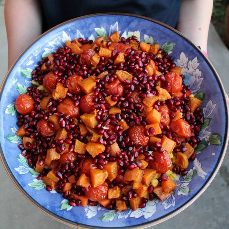 I wanted to use my Pomegranate so made a salad just for them.  With my favourite dressing - Pomegranate salad!