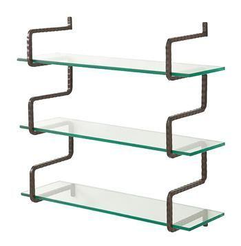 Wally Industrial Loft Iron Wall Mount Brackets Shelves