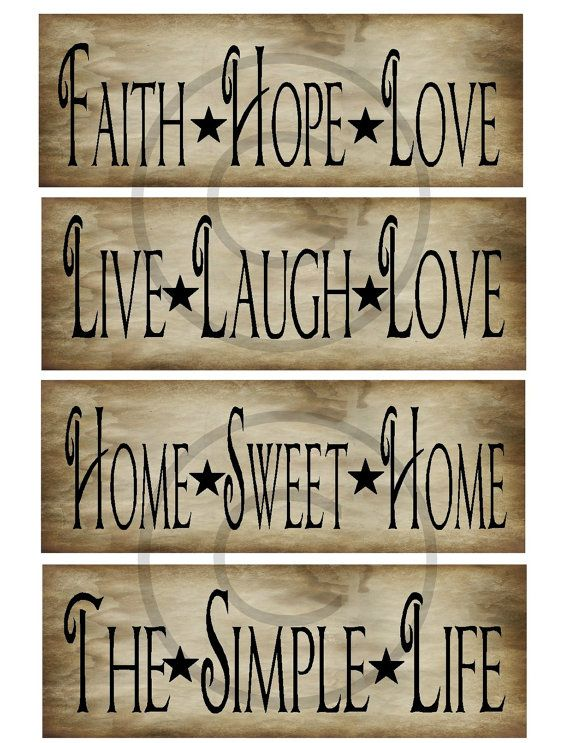 Primitive Prim Sayings Jpeg Digital Pantry Labels by Starrmtnprims