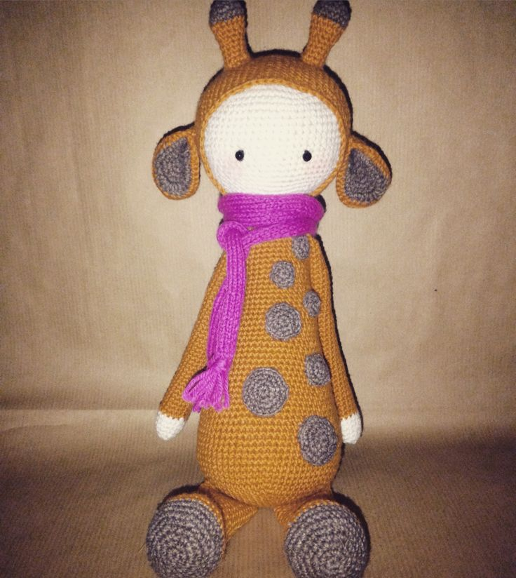 ...hello, my name is Krissie;)  #handmade #crochetpattern #giraffe #toy #byme #gifttoy #giraffewithscarf