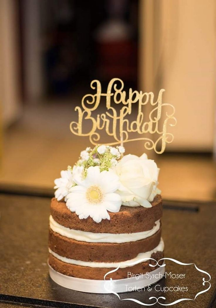 Makedonische Cake, Birthday Cake with fresh flowers - Birgit Syrch-Moser - Google+