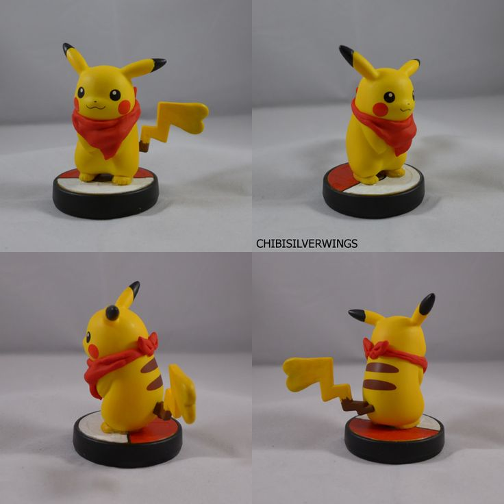 Polymer Clay Pokemon Pokémon Female Pikachu Mystery Dungeon Amiibo by ChibiSilverWings