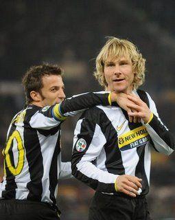 Nedved y Del Piero