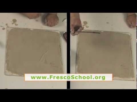 Fresco Plastering Tools, Materials, Containers and Support