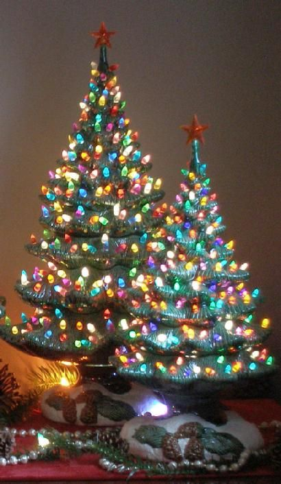 Ceramic Christmas Trees | Holiday Decor | 5Ahdc | Fifth Avenue Designs
