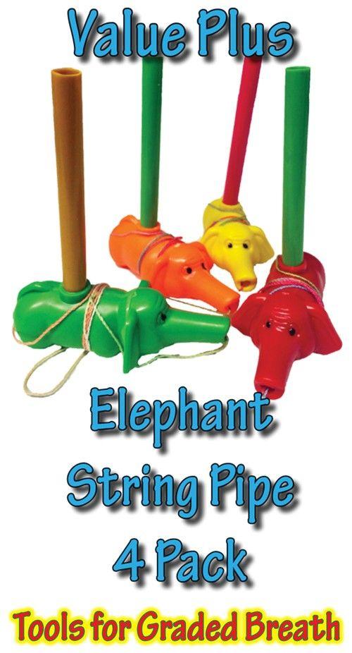SensoryTools.net Australia - String Pipe - Elephant shape - Value Plus (4 Pack)