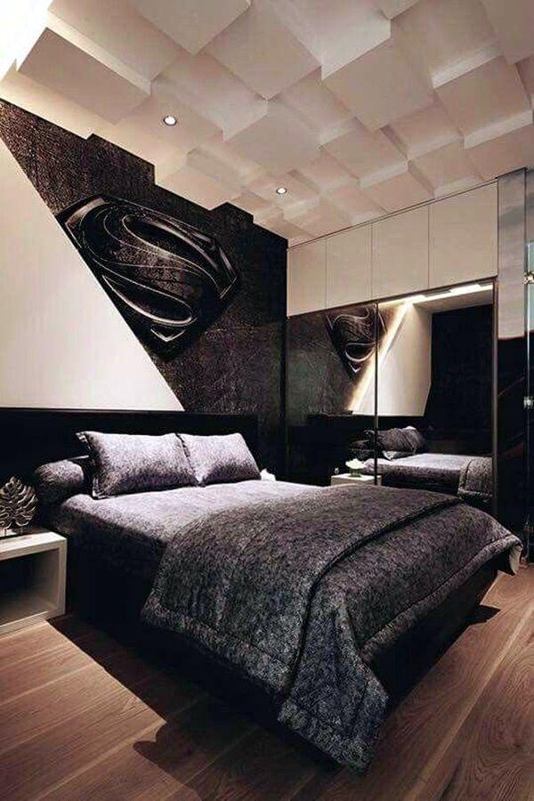 45 Classic Men Bedroom Ideas And Designs Bachelor Bedroom Superman Room Stylish Bedroom