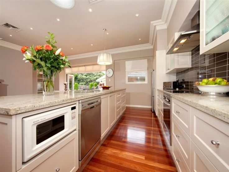 Marble bench tops kitchen bench tops product knowledge for Straight line kitchen designs
