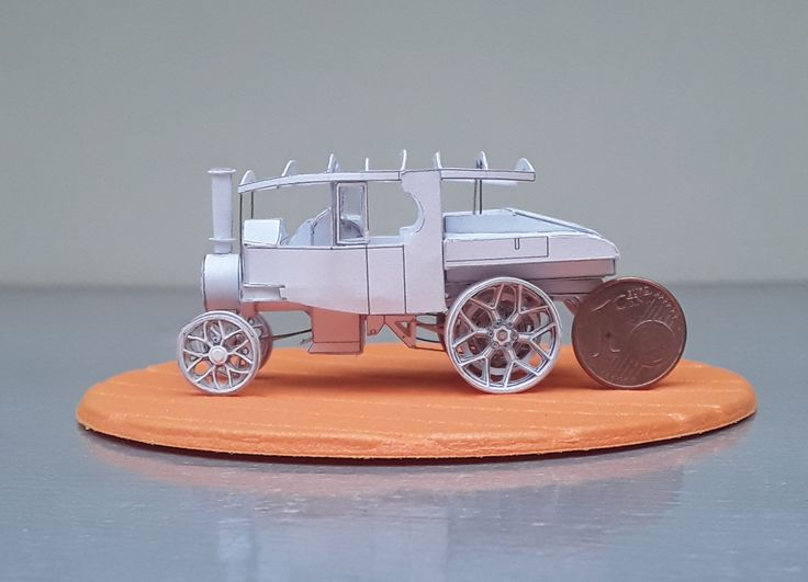 Foden D-type Steam Tractor, made from paper, scale 1/87, foto 2.