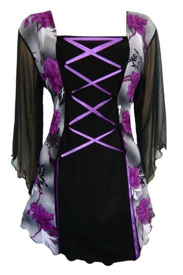 Amazon.com: Dare To Wear Victorian Gothic Women's Plus Size Mandarin Corset Top: Clothing