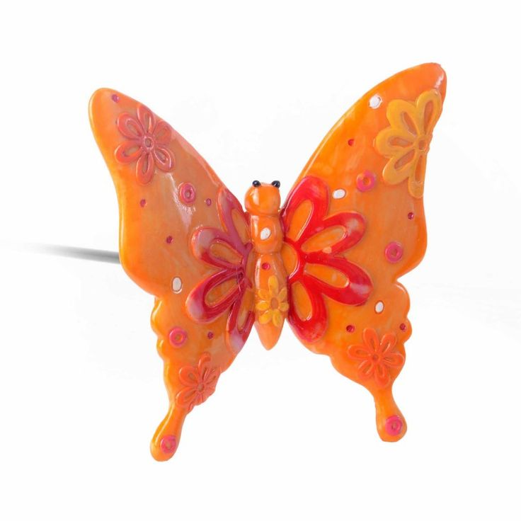 22 best butterfly garden ornaments images on pinterest for Outdoor butterfly ornaments