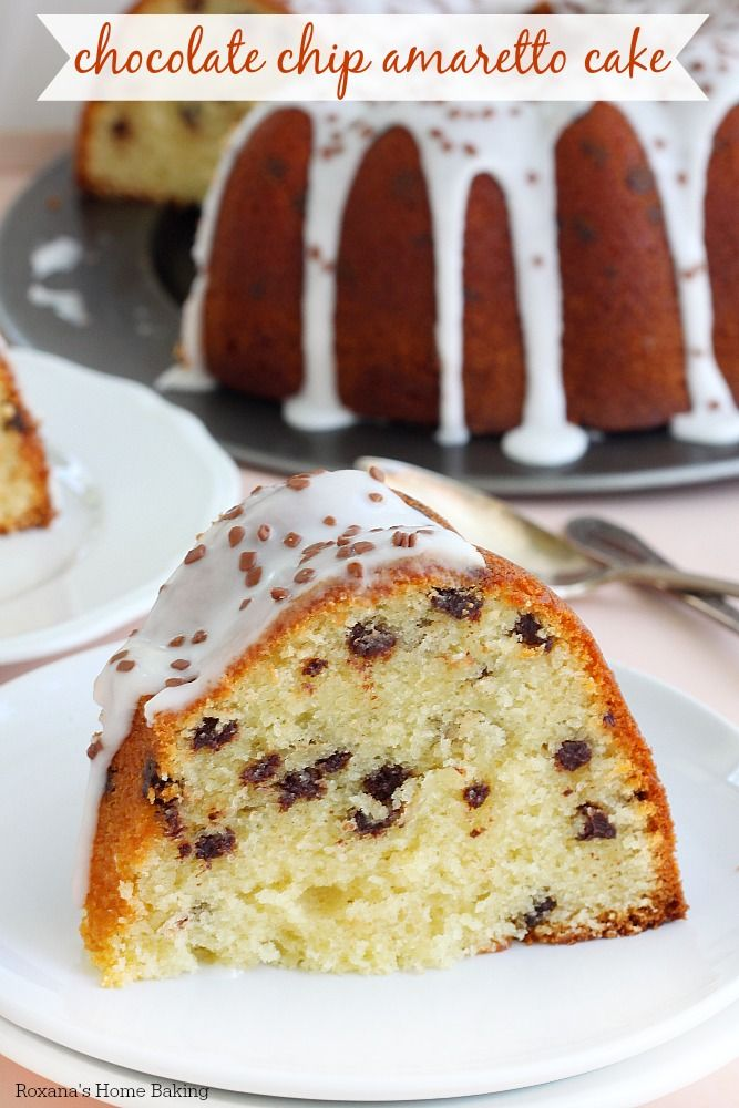 A delightfully decadent dessert, this chocolate chip amaretto cake is super soft and tender and is bursting with almond flavors from both the almond paste and amaretto creamer.