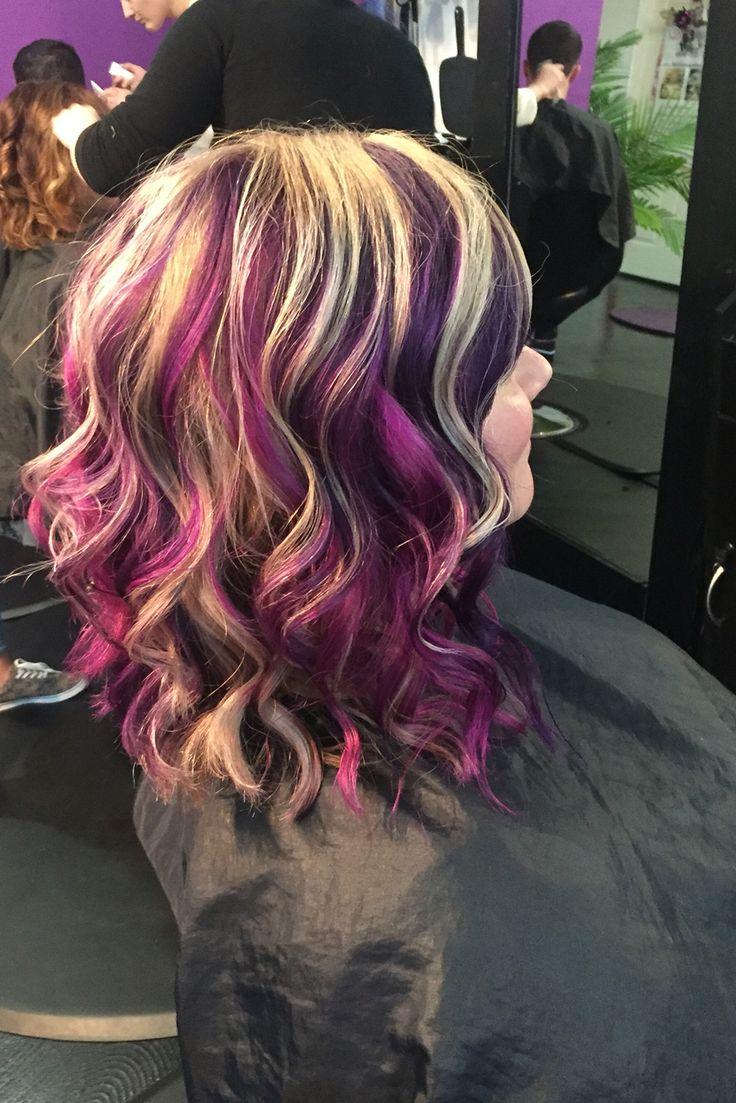 Purple Blonde Magenta Pinwheel Britanynicolesalon