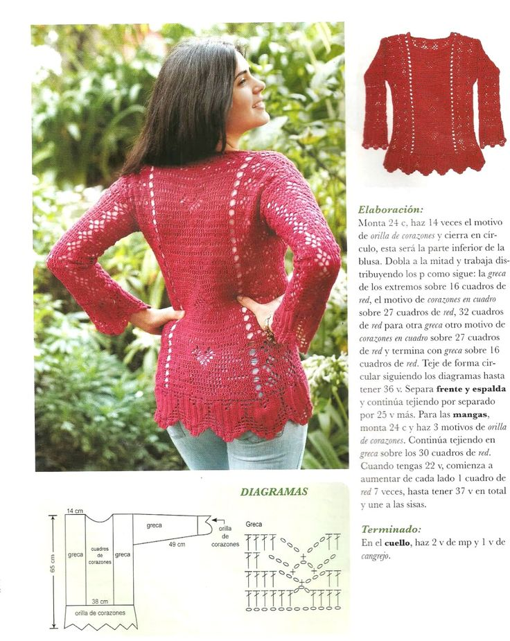 Encantador Patrones Jersey De Crochet Libre Adorno - Manta de Tejer ...
