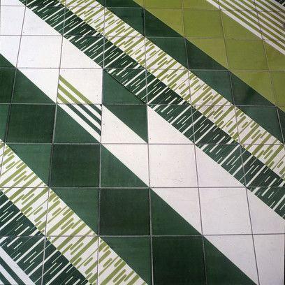 Gio Ponti, Pavimenti per gli uffici della Salzburger Nachrichten, Particolare del pavimento, @ Gio Ponti Archives
