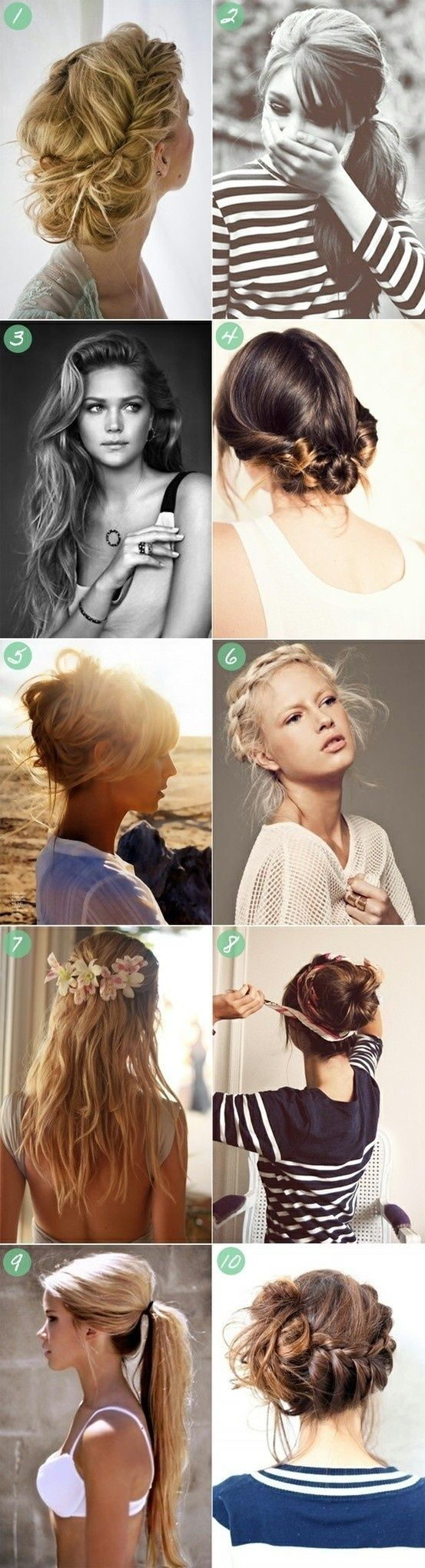 Summer hair....some of these I've already pinned, which validates them all the more!