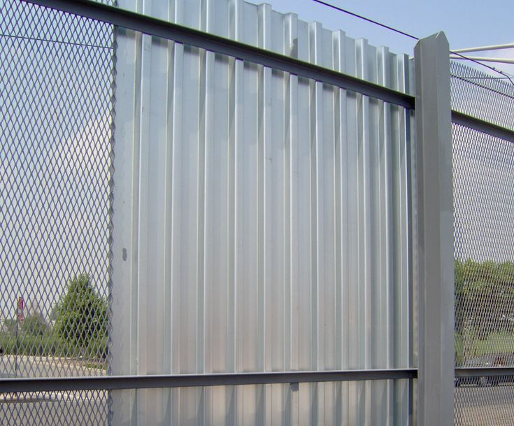 Corrugated Metal Fence Panels Metal Fence Panels