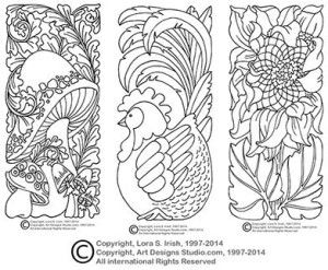 photo about Printable Leather Tooling Patterns called Picket Carving Styles No cost Printable - WoodWorking Assignments