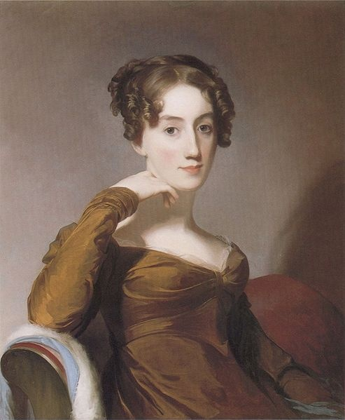 """Portrait of Elizabeth McEuen Smith"", 1823, by Thomas Sully (English, 1783-1872)"