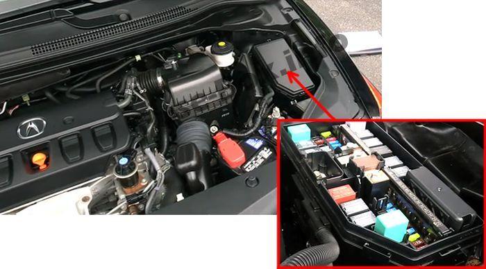 Acura ILX (2013, 2014, 2015, 2016, 2017, 2018) Fuse box ... on