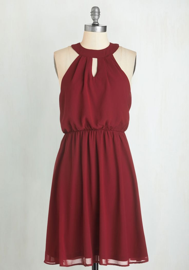 City Sway Dress in Wine. Dance your way to every destination in this fabulous burgundy dress! #red #modcloth