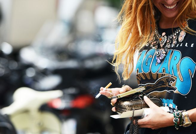TT: Tees, Statement Necklaces, T Shirt, Details, Street Style, Fashion Week, Jewelry, Graphic Tee
