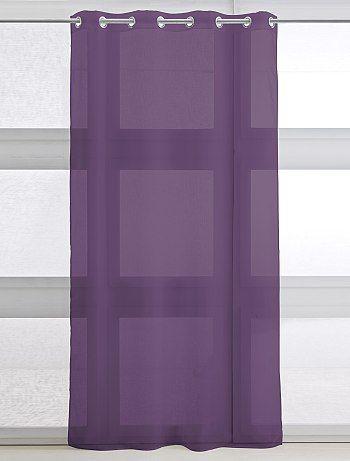 Voilage à oeillets Linge de lit - violet à 6,99€ - Découvrez nos collections mode à petits prix dans notre rayon Voilage.