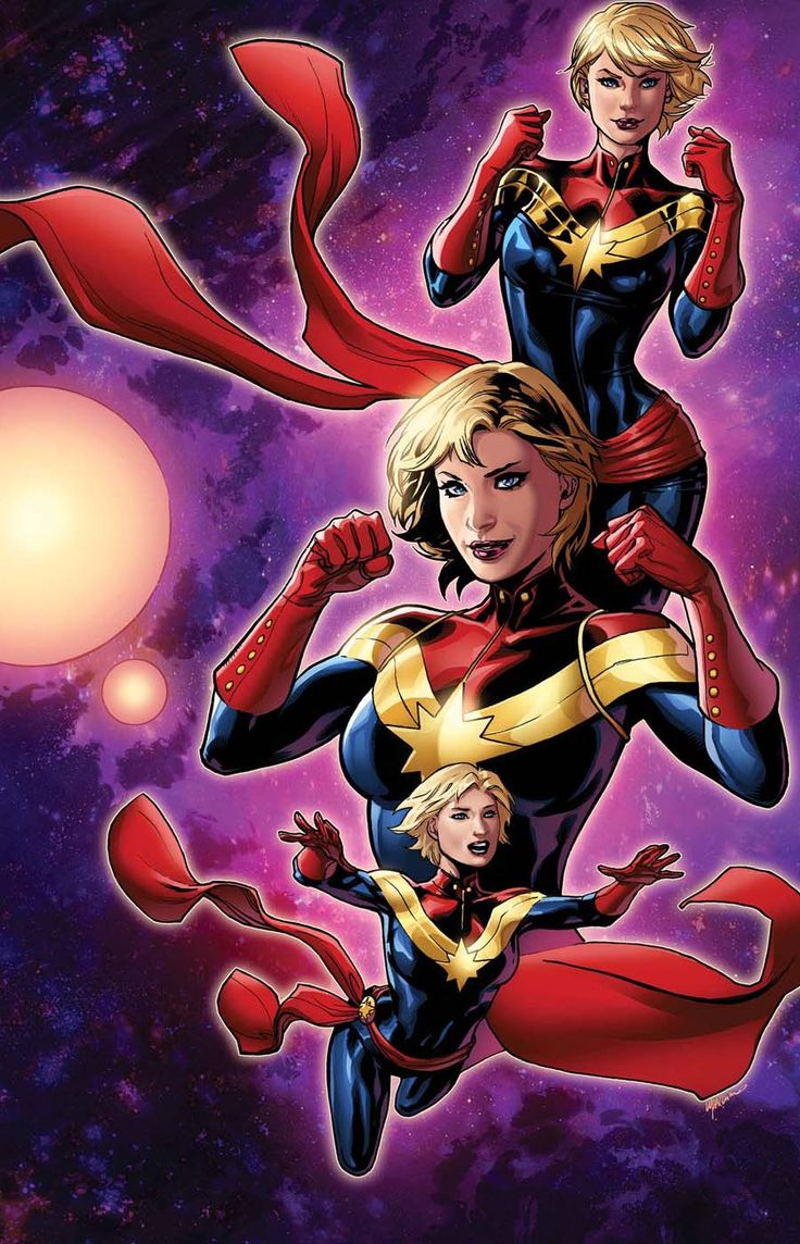 Captain Marvel # 3 -Variant cover by Emanuela Lupacchino