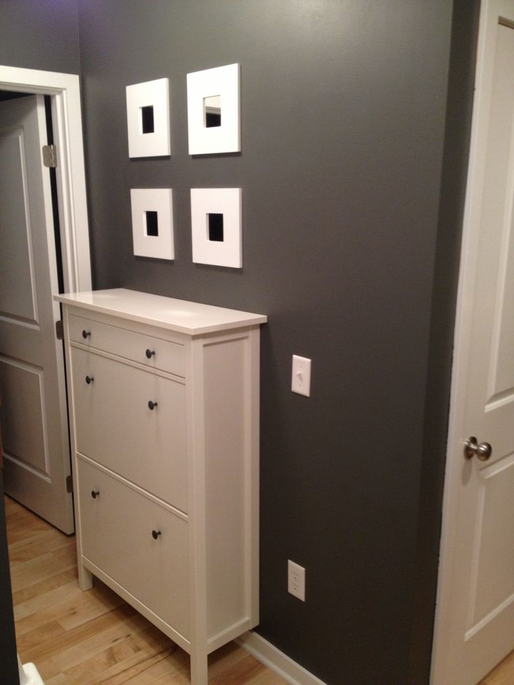 Entry Hall Cabinet hemnes shoe cabinet from ikea with 4 mirrors | home | pinterest