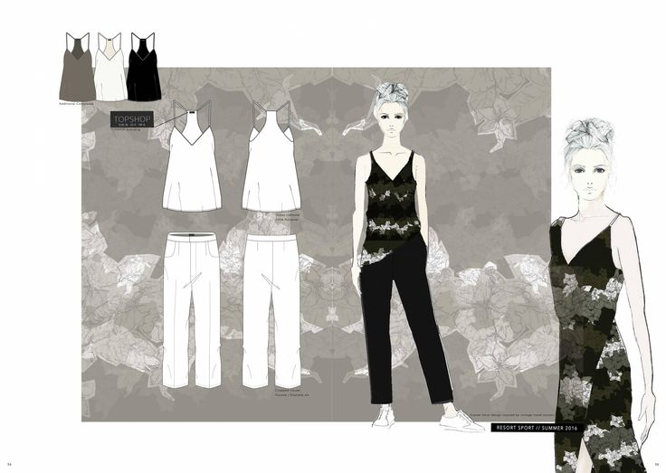 Fashion Portfolio - fashion illustrations & flat drawings; fashion sketchbook // Emma Louise Williams