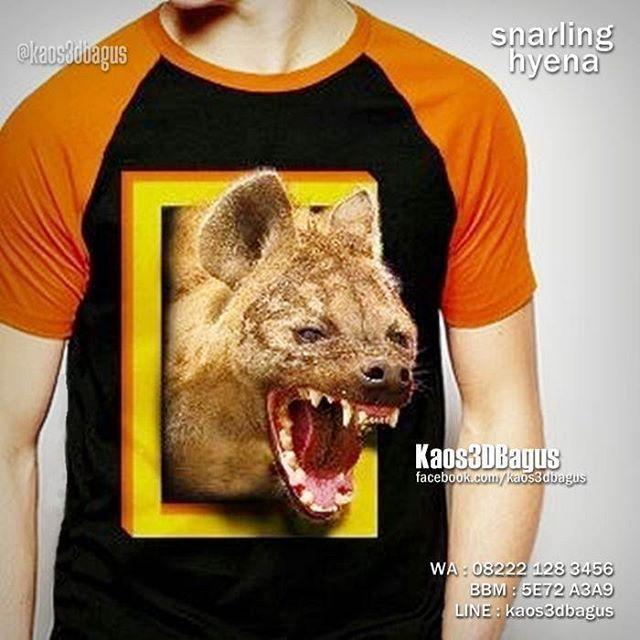 Kaos HYENA, Kaos 3D Snarling Hyena, Kaos WILD ANIMAL, Kaos Animal Lover, Kaos…