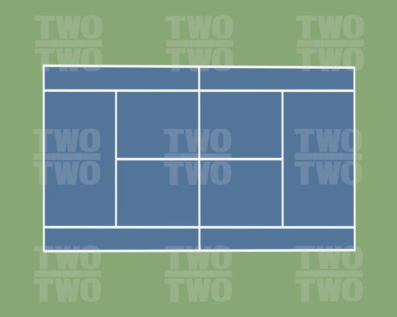 Tennis Court Prints: Wimbledon French Open US Open and