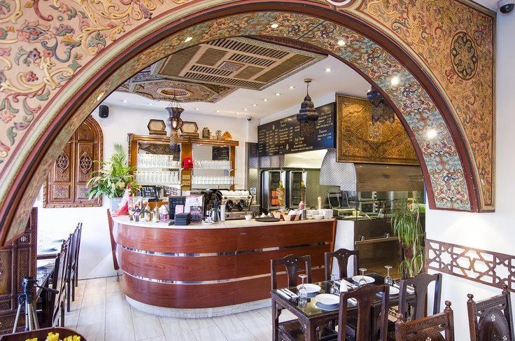 Aya lebanese restaurant interior design coffee shop