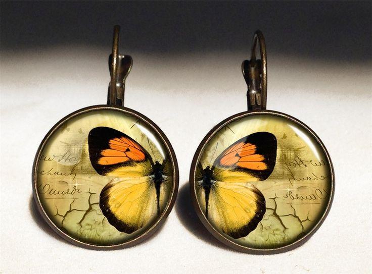 Butterfly Big Earrings, 0701ERB from EgginEgg by DaWanda.com