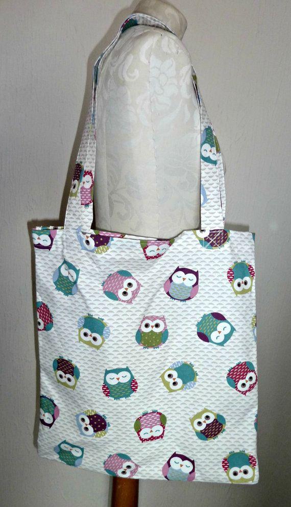 Handmade Shopping Bag owls floral Tote Bag by KelwayCraftsYorkshir, £9.99