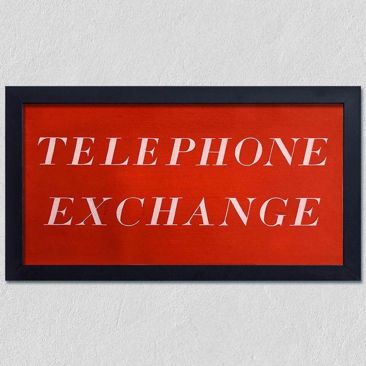 Framed Type Study - Telephone Exchange