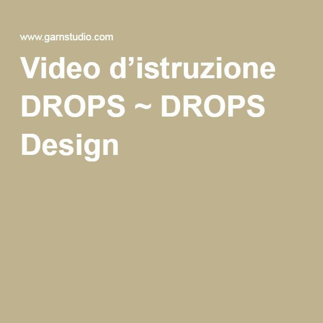 Avviare - Avvio provvisorio con filo di scarto o circolare  Video d'istruzione DROPS ~ DROPS Design
