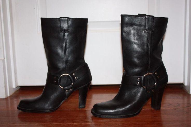 Women's Harley Davidson NINA Boots - Black Leather - Size 9 - EUC!    #HarleyDavidson #MidCalfBoots #Anytime