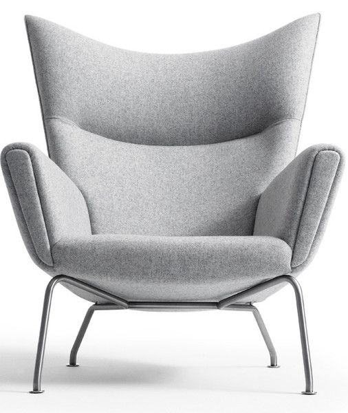 CH445 Wing Chair by Hans J. Wegner.  Designer: Hans J. Wegner (1960).  Manufactured under license in Denmark by Carl Hansen & Son.