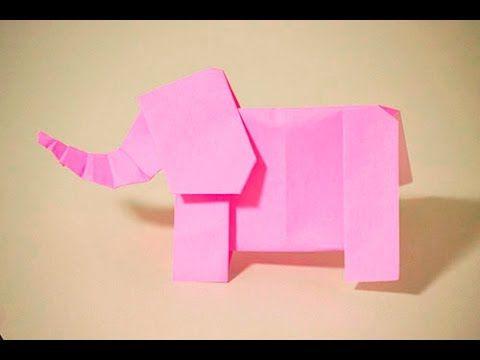 【折紙(origami)】ぞうさん(頭) Elephant(head)
