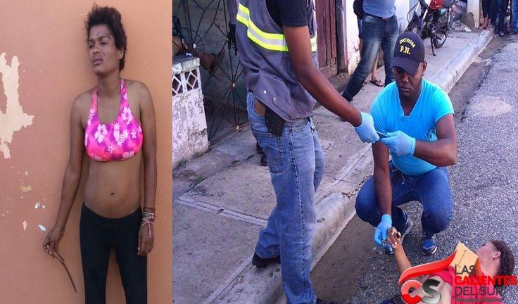Mujer bajo los efectos de las drogas asesina hombre por no regalarle diez pesos para comprar sus vicios
