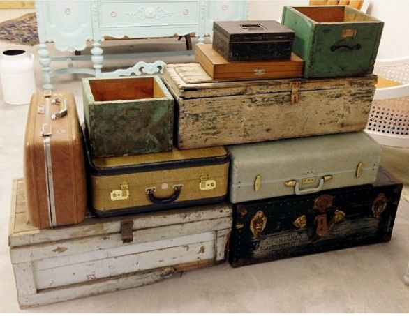 12 best wedding decor images on pinterest country weddings farm where to rent vintage suitcases for your wedding decor junglespirit Choice Image