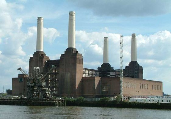 The coal-powered stations provided the city of London with power for over 30 years, but by 1983, both of the facilities had ceased operation and the complex was abandoned. With the building idle, talk of demolishing the site quickly began. Luckily, the power station had become an icon in pop culture thanks to its prominent appearance in a number of media from the Beatles film Help! to the cover of Pink Floyd's album Animals.   Battersea Power Station – London, England | Atlas Obscura
