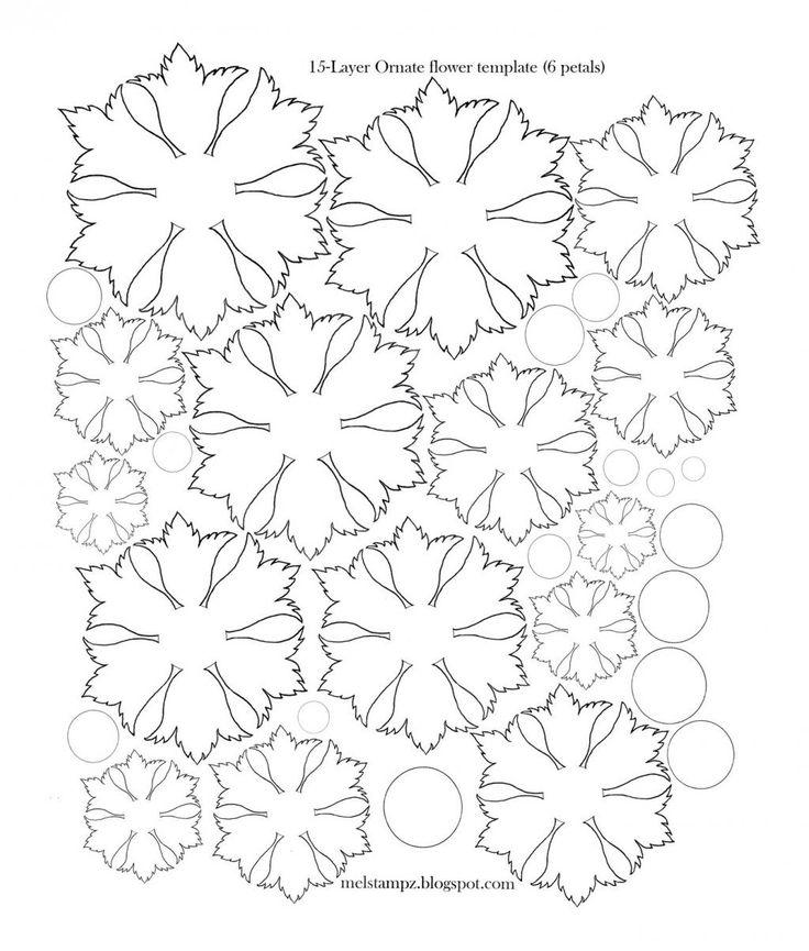 modele scrapbooking gratuit fleur