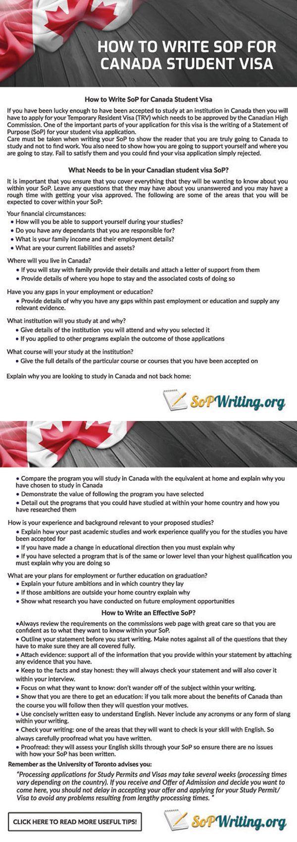 Visa Statement Of Purpose 2019 Visa Canada Canada
