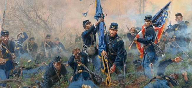 In late September 1864, Ulysses S. Grant mounted his fifth offensive against Confederate forces at Petersburg, Virginia in the Battle of New Market Heights.