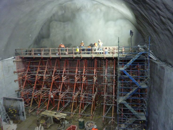 Low point sump formwork in place, Kenny Constructions on Airport Link project.