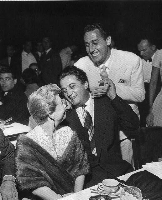 """Giulietta Masina - Federico Fellini - Alberto Sordi """"Federico è un gran bugiardo"""" - A.Sordi"""