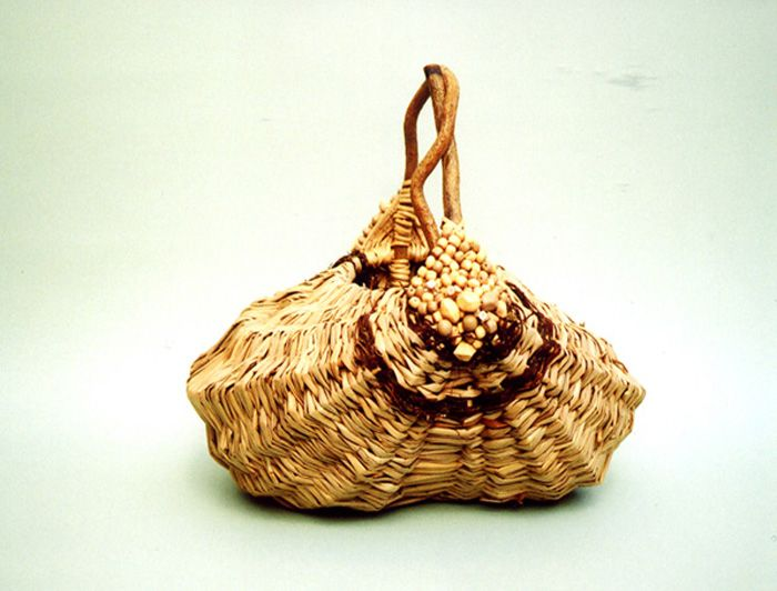 melon basket embellished with beads