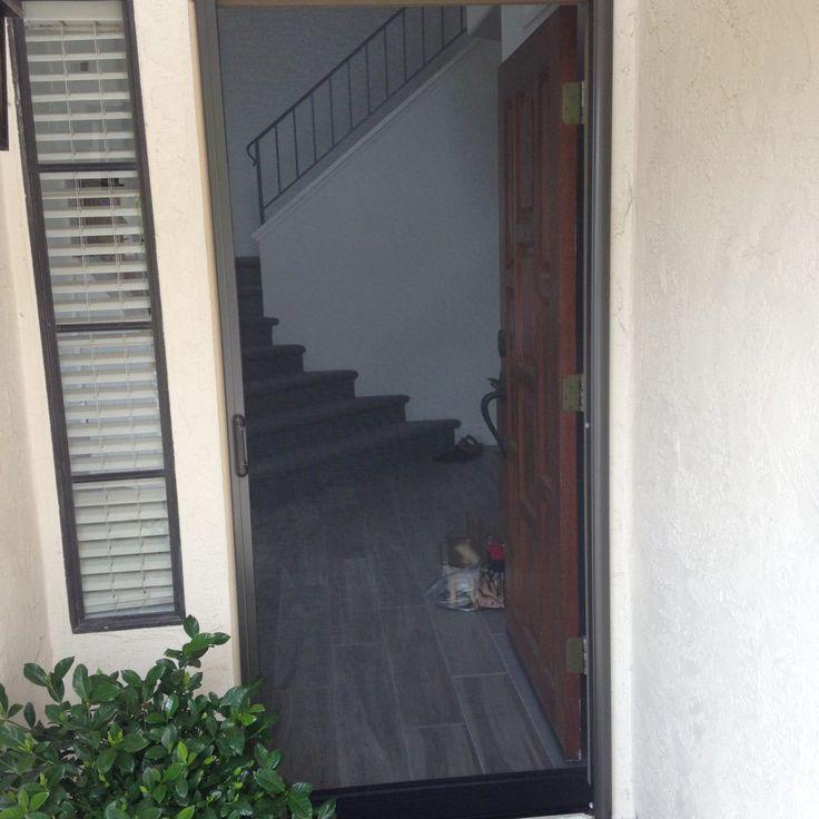 Bronze Clearview Retractable Screen Door installed by Mr. Window Screen & 13 best ClearView Retractable Screen Doors images on Pinterest ...